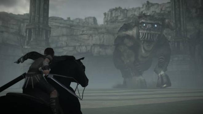Mannen och hästen möter den andra jätten