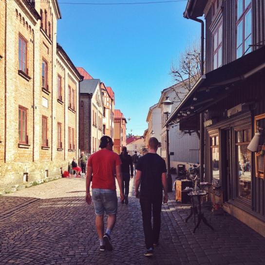 Pittoreska kvarter att flanera i gamla stadsdelen Haga,
