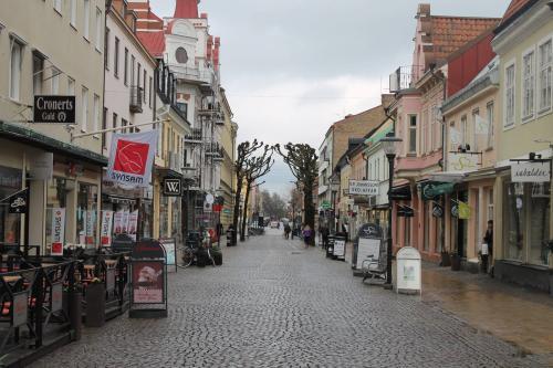 En av de många gågatorna i Kristianstad