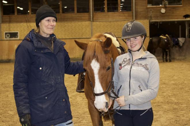 Miranda och tränaren Ulrika Malmgren