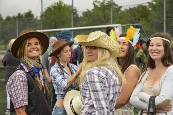 En klass hade valt cowboy som tema.